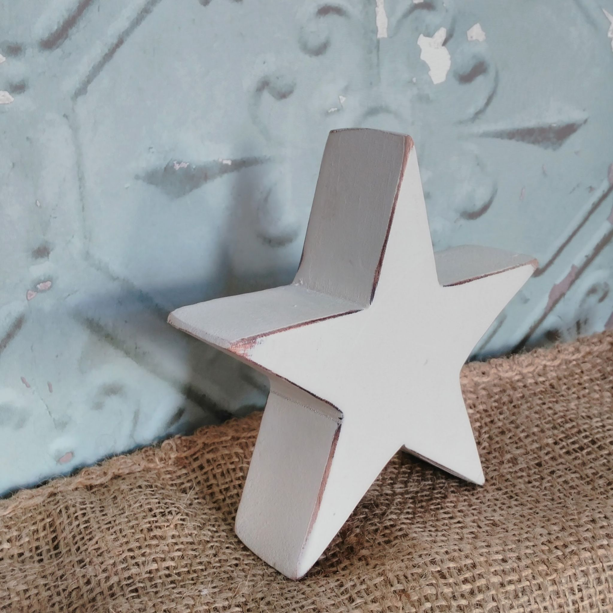 Gorgeous white washed wooden star